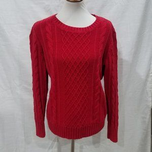 Old Navy Red Cable Knit Sweater